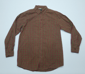 18-20 Red /& Green Plaid Button Front Shirt New Arizona Boys Size Extra Large