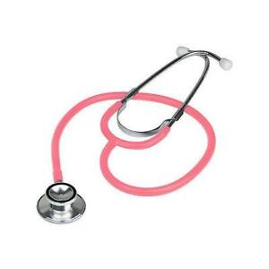 BRAND-NEW-DOUBLE-DUAL-HEAD-PINK-STETHOSCOPE-IN-BOX