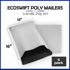 5 13x15 Ecoswift Poly Mailers Plastic Envelopes Shipping Mailing Bags 235mil