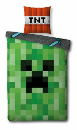 Enfants Linge De Lit Set 135x200 80x80 Game Minecraft Fortnite zelda mario jeunes