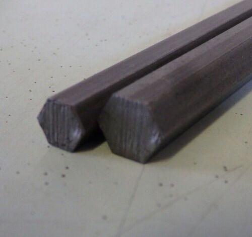 2PC Twin 300mm x 8mm /& 10mm A//F Hex Bright Steel Bar hexagonal free-machine