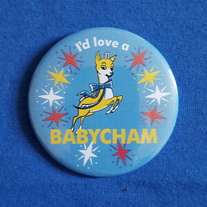 I-039-d-Love-a-Babycham-traditional-Button-Badge-58mm-diameter