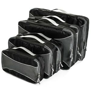 Home Treats Set of 6 Packing Cube Travel Bags Black.for Suitcases and Carry-on