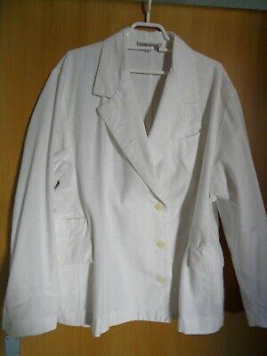 100% QualitäT Blazer Sakko Weiß 100 Baumwolle 44 46 Xxl Maße Langarm Eine GroßE Auswahl An Modellen