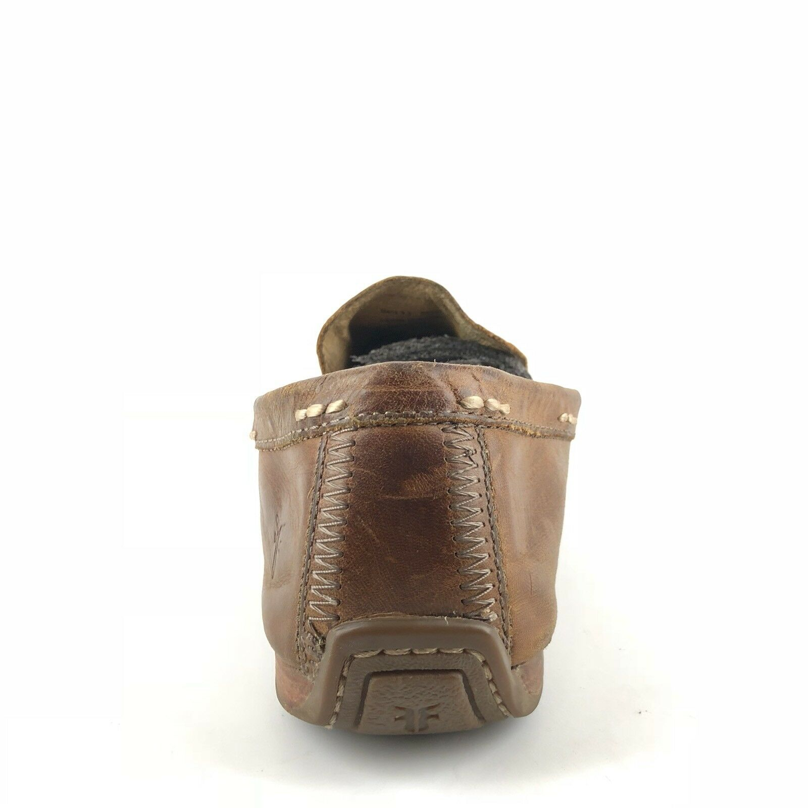 aa12b319215 ... Frye Lewis Venetian Brown Brown Brown Leather Loafers Driving Mocs Mens  Size 7.5 M 8a8a00 ...