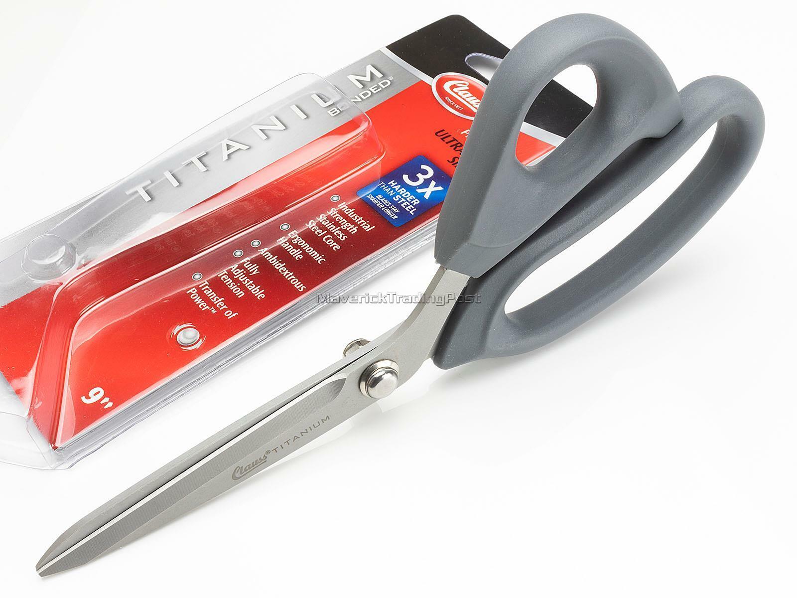 Clauss 18080 9-Inch Titanium Bonded Ultra Flex Bent Shear Grey 9 inch