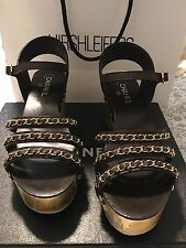 0e8403ac5471 item 3  1.175 CHANEL CHAINED CHAIN BROWN GOLD PLATFORM SANDALS SHOES SIZE  41 NIB - 1.175 CHANEL CHAINED CHAIN BROWN GOLD PLATFORM SANDALS SHOES SIZE  41 NIB