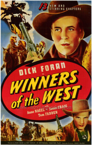 WINNERS OF THE WEST Movie POSTER 27x40 Dick Foran Anne Nagel James Craig Tom