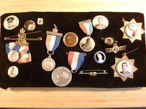 Collection-Joblot-17-King-Edward-VIII-Commemorative-Badges-Medals-etc-Coronation