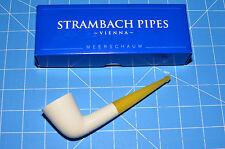 Dublin Amber Handmade Premium MEERSCHAUM pipe by STRAMBACH Austria (bauer) NEW ☦