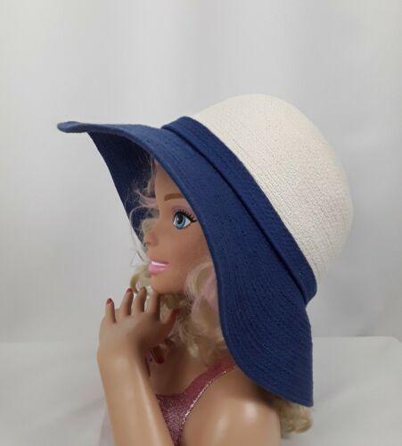 Kate Spade Sun Hat Womens Black Off White Blue Flo