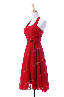 Hot Sexy Halter Formal Party Evening Bridesmaid Cocktail Dresses Prom Short Gown
