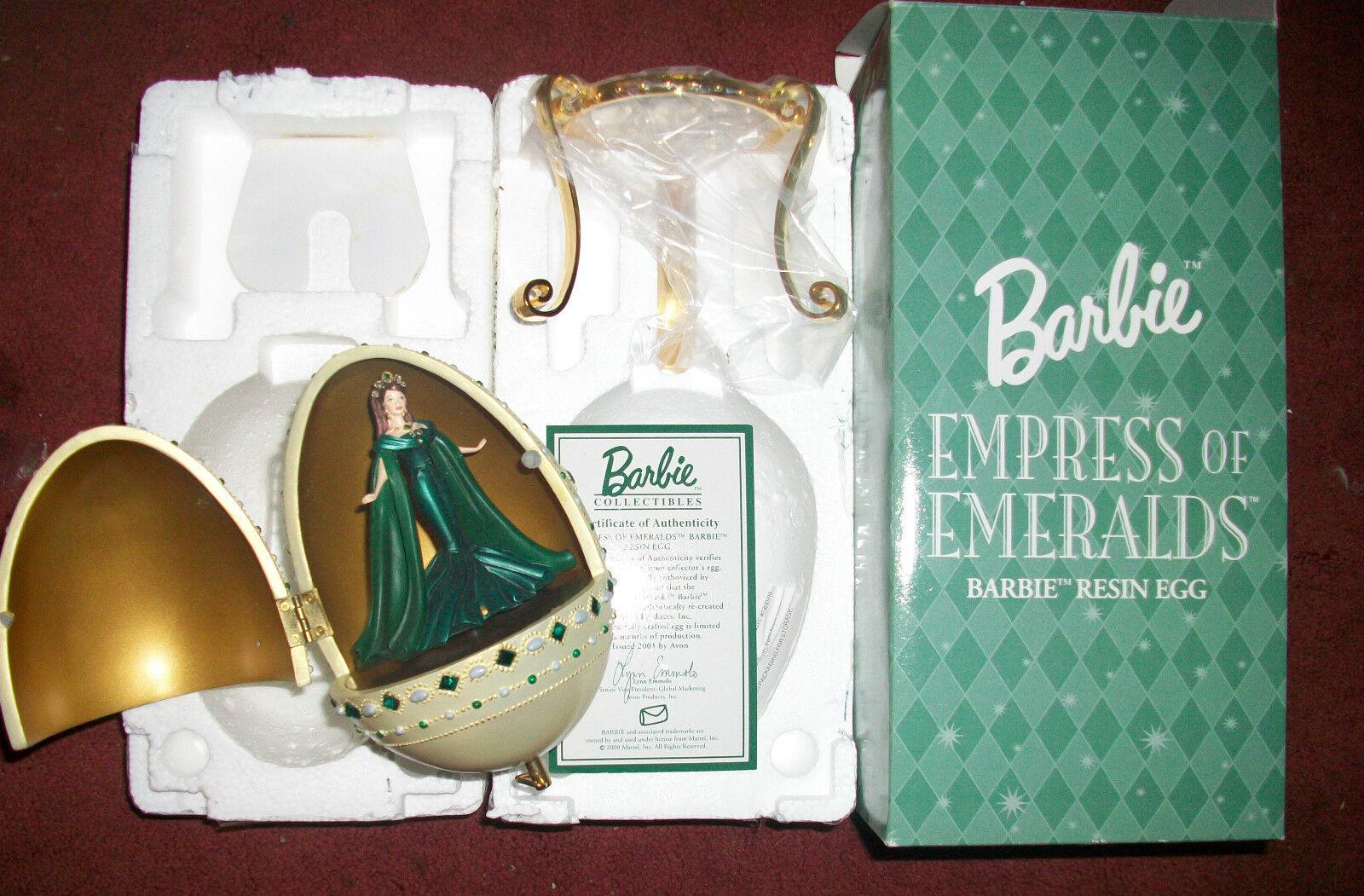 Emperatriz de Esmeraldas Barbie 2000 Huevo De De De Resina Caja de música Colección Royal Joya  mejor calidad