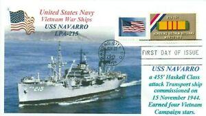 Uss-Navarro-LPA-215-US-Marina-Anfibio-Transport-Vietnam-War-Primo-Day-Of-Issue