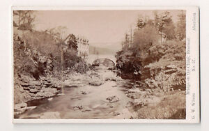 Vintage-CDV-Bridge-on-the-Cluny-Braemer-Scotland-G-W-Wilson-Ph-Aberdeen