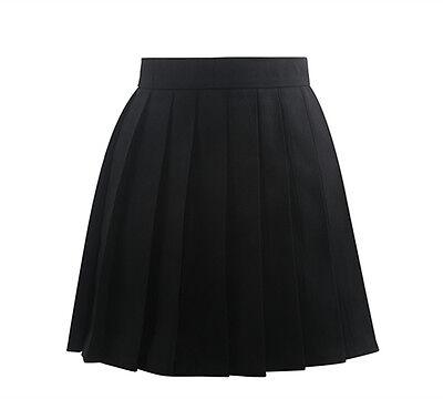 Japan harajuku High School Girls uniforms Solid Pleated Mini Skirts Womens Sailo