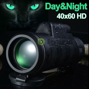 40X60-Day-Night-Optical-Monocular-BAK-4-High-Power-Hunting-Camping-Telescope-New