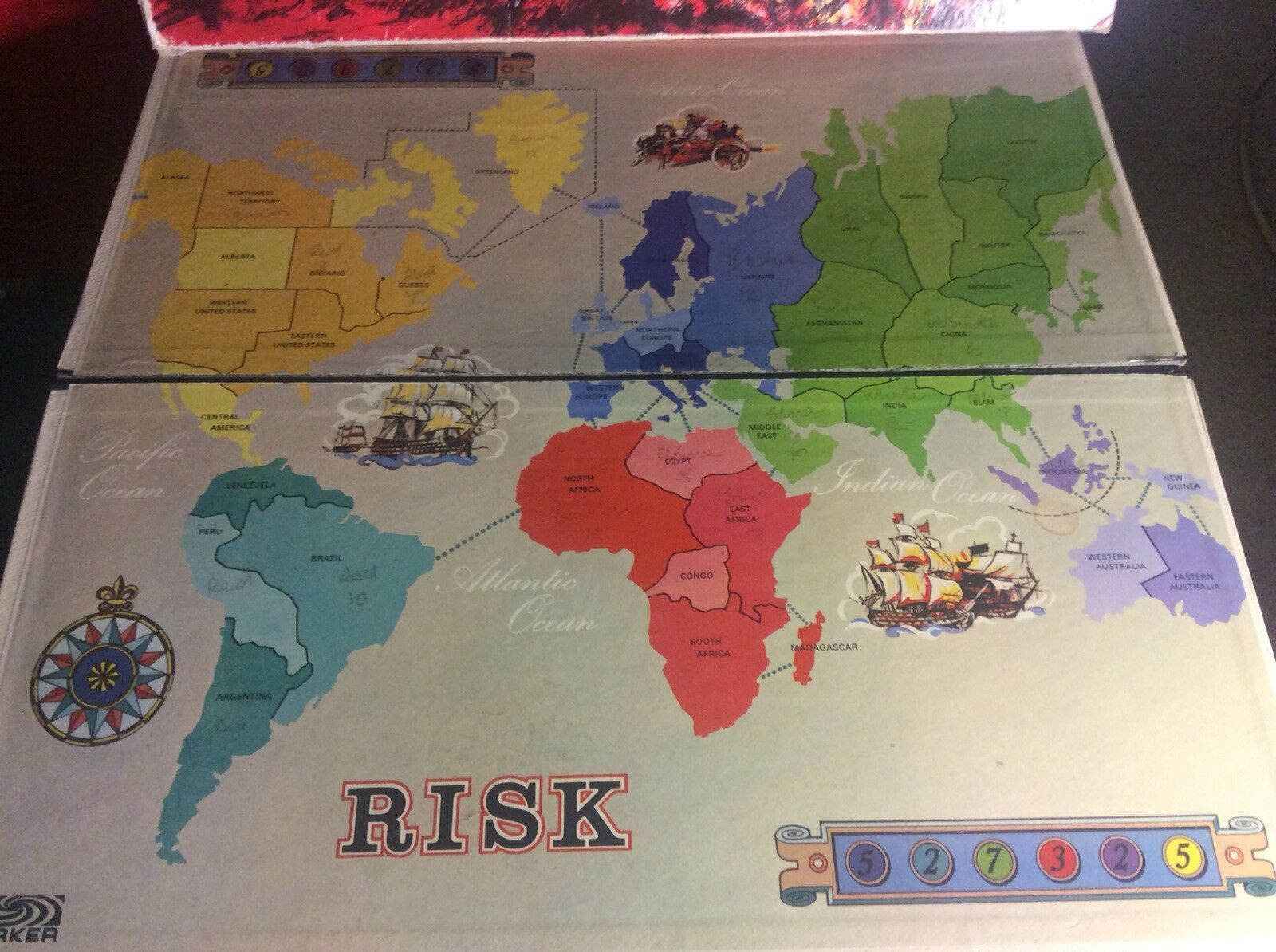 Vintage Parker Risk 1960's world strategy strategy strategy board game - Complete 0d6f3f