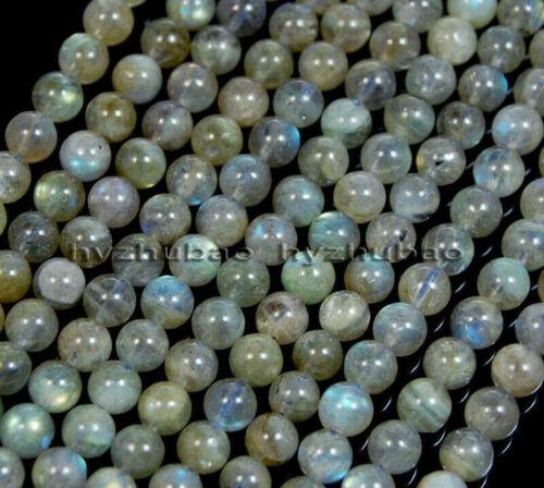 4//6//8// 10mm Real Natural AAA Labradorite Gemstone Round Loose Beads Chatoyant