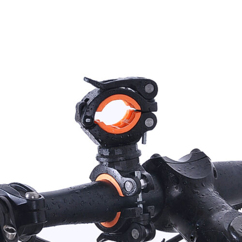 360° Cycle Bicycle Light Lamp Torch LED Flashlight Mount Bracket Holder Clip RC