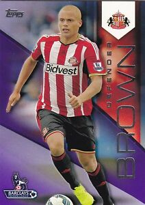 2014 Topps Premier Gold Wes Brown Sunderland Purple 0550 - <span itemprop='availableAtOrFrom'>Castleford, United Kingdom</span> - 2014 Topps Premier Gold Wes Brown Sunderland Purple 0550 - Castleford, United Kingdom