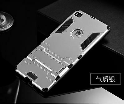 For Huawei P10 P9 P8 Lite 2017 Slim Shockproof Rubber Soft Cover Hard Stand Case