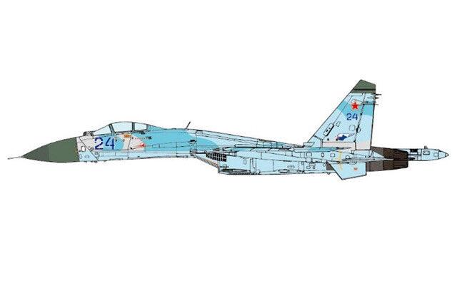JCW-72-SU27-005 Su-27 Flanker-B 1 72 72 72 Model bluee 24 Russian Air Force 582nd IAP 2ca349