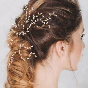 Wedding-Womens-Ladies-Party-Pearl-Hair-Clips-Rice-Hairpins-Jewelry-Combs