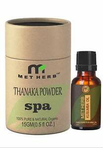 Metherb Thanaka Powder 15 G Kusumba Oil 15 Ml For Permanent Hair Removal Eco Fri Ebay