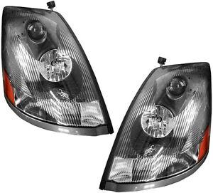 Volvo VNL & VT Blackout Projector Headlight With LED Dual ...  |Headlamp 2000 Volvo Vnl