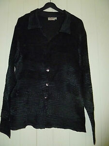 EAST-Evening-Shirt-Ladies-Size-M-L-Black