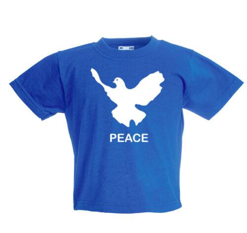 blau PEACE Friedenstaube Baby-T-Shirt