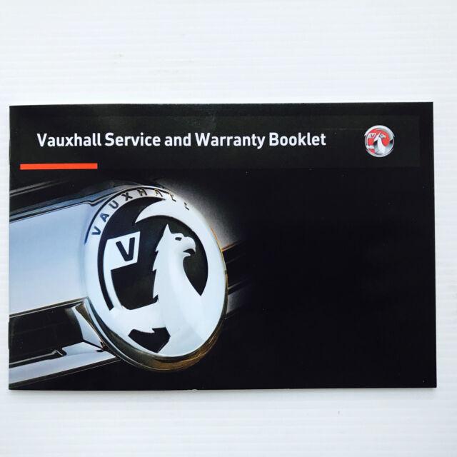 Vauxhall CASCADA Service Book New Blank Genuine