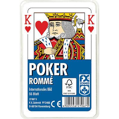 50 x 55 Blatt Ravensburger Spielkarten Poker Internationales Bild Etui 27067
