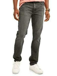 George-Slim-Straight-Fit-Black-Jeans-34x32