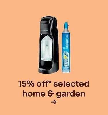 15% off* selected home & garden