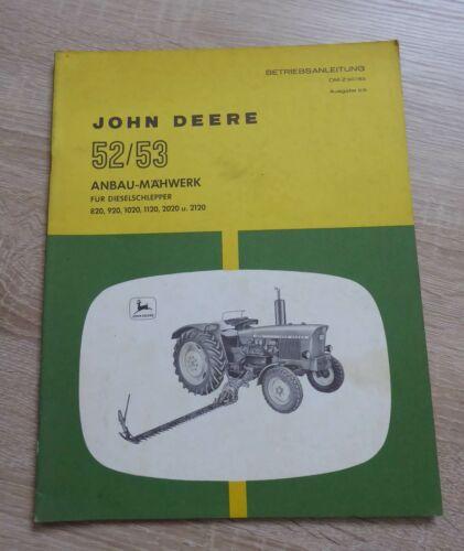 JD 820, 920, 1020, 1120, 2020, 2120 John Deere Mähwerk 52 53 Anleitung