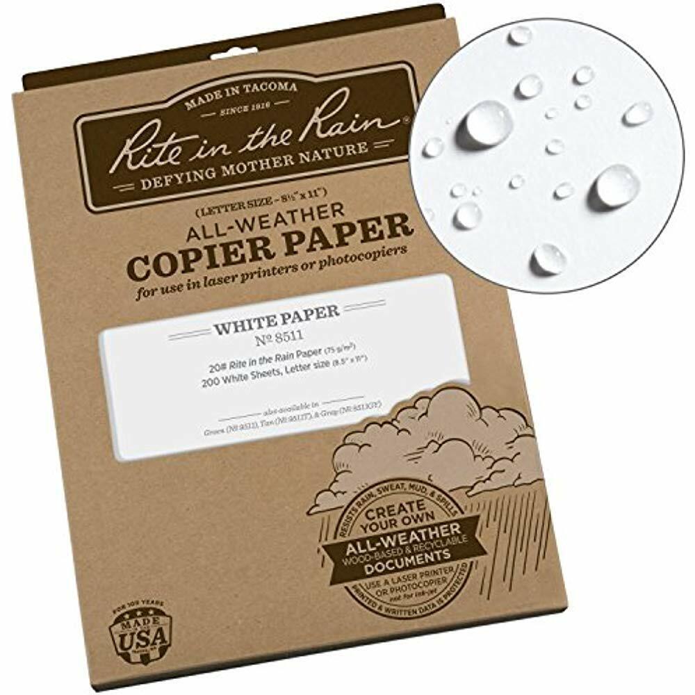 """SALE Rite In The Rain All-Weather Copier Paper, 8 1 2"""" X 11"""", 20 White,"""