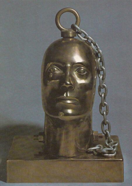 Frankenstein Head Eduardo Paolozzi Bronze Sculpture Scottish Arts Postcard