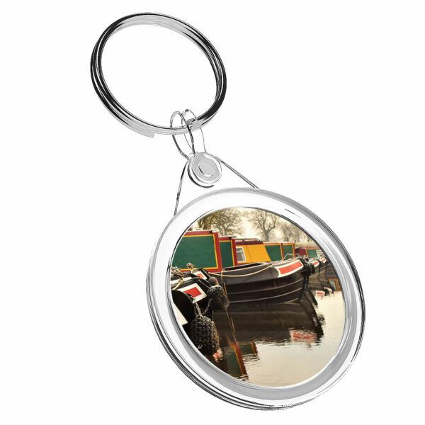 1 Cool Stretto Barche X Canal River-portachiavi Ir02 Mamma Papa 'regalo Di Compleanno #16469