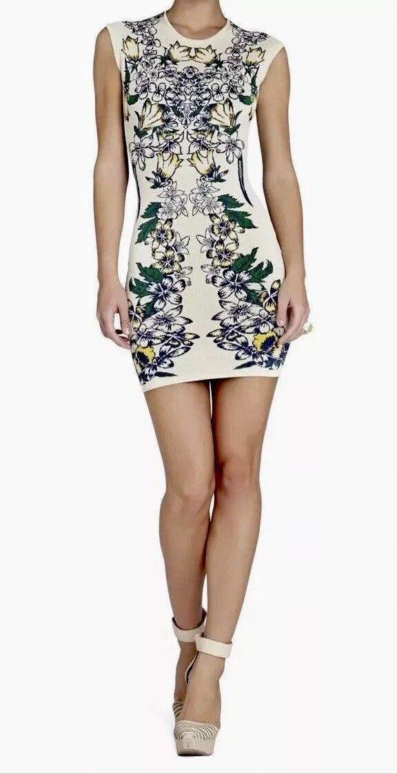 BCBGMAXAZRIA Ellena Luxe Floral  Jacquard Dress Sz M NEWOT