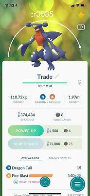 Pokemon Go Garchomp High Level Trade 2500+ CP | eBay