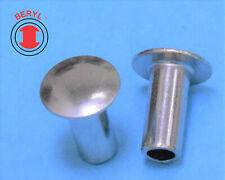 Steel Zinc Oval Head Semi Tubular Rivets 18x14 Ohtr180140 100pcs