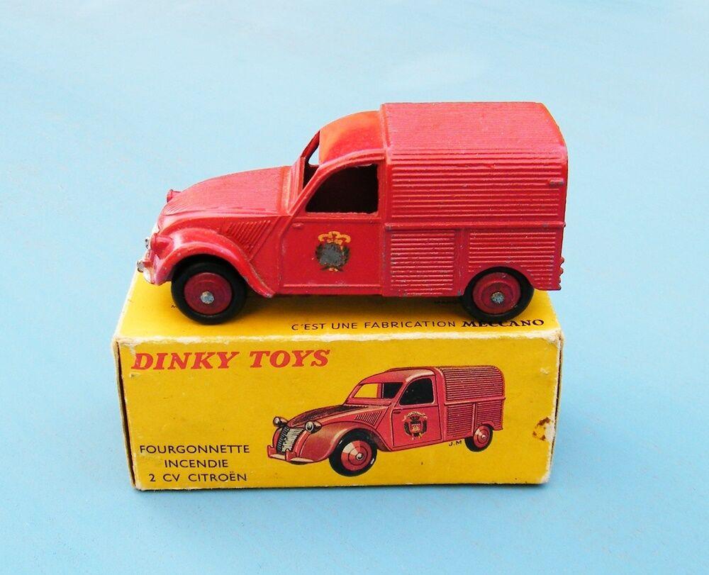 FRENCH DINKY TOYS 25D Van incendie Original VNMB