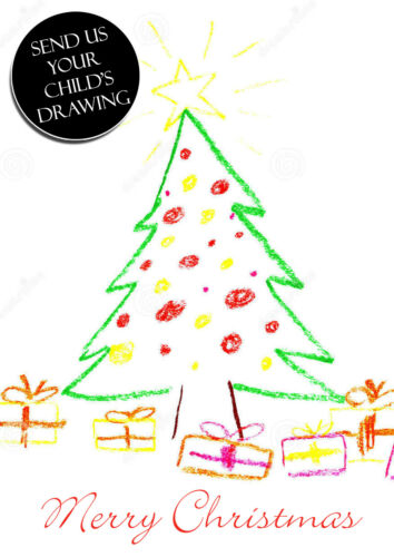 10 Your Childs Drawing Painting Christmas Cards Friends Family Xmas Greeting