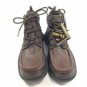 b39f2746a26a8 Details about NWOB Mens 8 Clarks Ash Boots Goretex Brown Leather Hiking  Waterproof