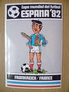 1982 COPA MUNDIAL DEL FUTBOL ESPANA/'82 Autocollant-France