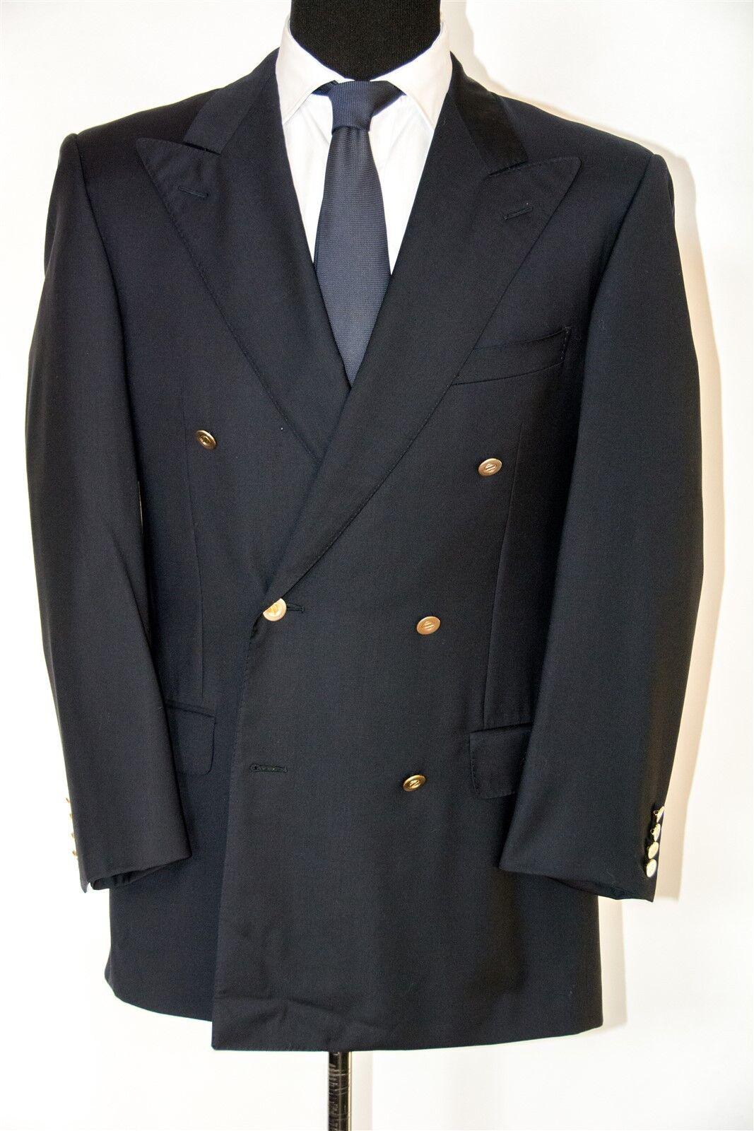 Ermenegildo Zegna Navy Double Breasted Blazer, Größe 42L