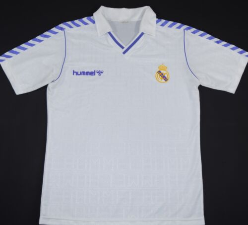 19891990 REAL MADRID HUMMEL HOME FOOTBALL SHIRT SIZE L