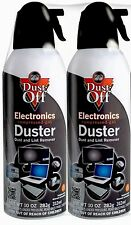 Lot of 2 Cans Air Computer TV Compressed Duster 10oz Dust Off Laptop Keyboard